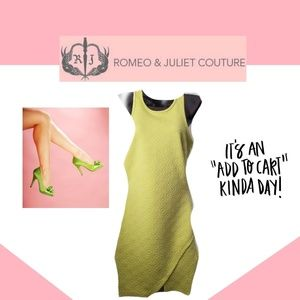 ROMEO & JULIET COUTURE Lime Green Floral Dress